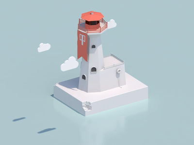 Low poly Lighthouse animation 3d animation 3d artist lighthouse low poly lighthouse