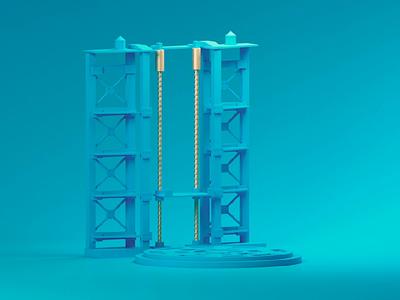 Bubble Rocket minimal emiliance blue animation music low poly design cinema 3d animation 3d bubble rocket