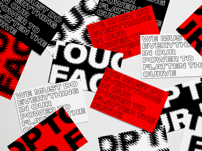 COVID Typography glitch covid texture business card card black  white black red typography