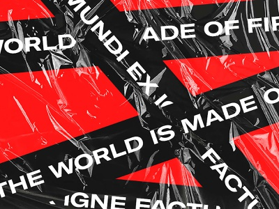 The World Is Made of Fire typography design