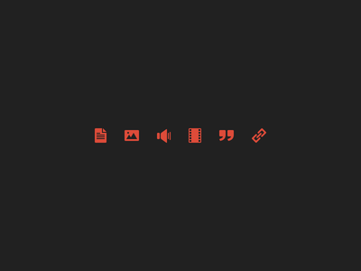 Icons (WIP) icons psd vector file picture video audio quote link post format