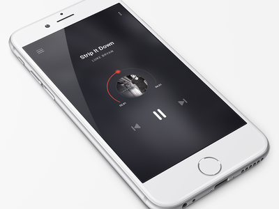 iOS Music App screen ui music iphone ios app