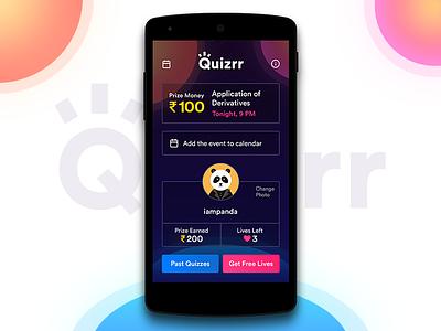 Quizrr - Live Educational Quiz App game study education live quiz-app android ui app
