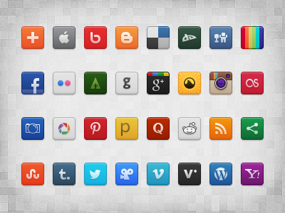 Social Icon Set (Freebie)  youtube freebie psd social icon set 32px icons pixel perfect facebook instagram dribbble twitter vector pinterest google