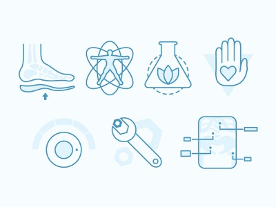 Chiropractic Icons icons chiropractic services health heal orthotics massage physical nutrition vector iconic