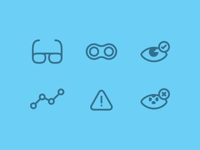 Eyecons symbol icon icons eye contacts glasses lens flat line glyph disease