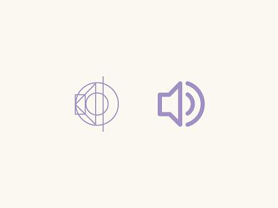 Volume Icon glyph line flat icon symbol ui video process volume