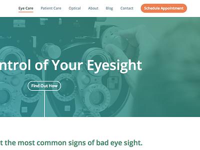 Lobue Laser & Eye Medical Centers web design frontend color wip