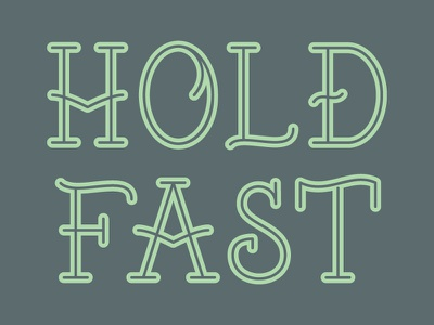 Hold Fast Font tattoo font lettering vector type free