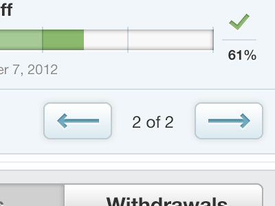 A little bit of something coming soon buttons arrows progress bar