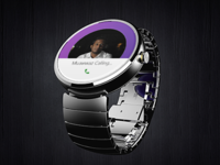 Moto 360 Viber Call Screen Mockup