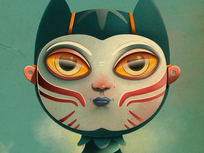 Doll procreate app illustration portrait face eyes texture procreate