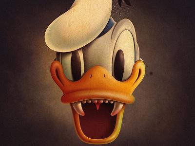 Donald donald duck disney texture procreate app illustration