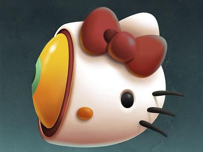 Hello Kitty Halloween texture face procreate app eyes illustration procreate halloween hellokitty