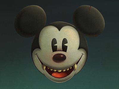 Mickey icon portrait texture procreate app illustration halloween mickey mickeymouse disney