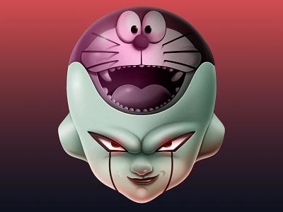 Frezer+Doraemon=Fremon japan manga doraemon freezer