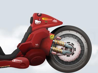 Kaneda´s bike 02. Akira