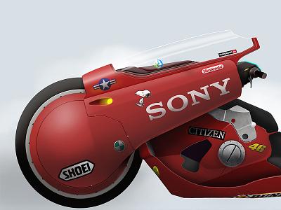 Kaneda´s bike 01. Akira japan tokyo color bike motorcycle motorbike manga anime akira