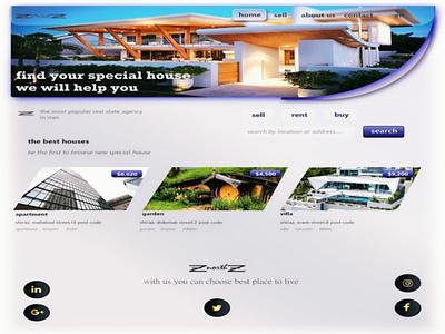 Real state agancy minimal web design branding logo ui ux