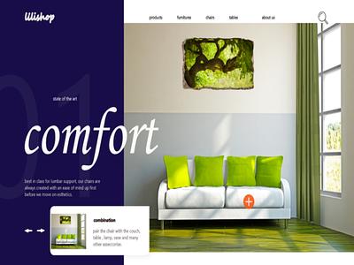 Furniture ux ui logo design branding