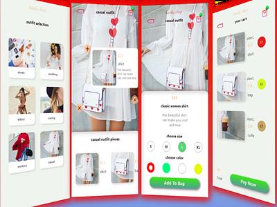 Shop app vector typography illustration minimal app branding design logo ui ux web