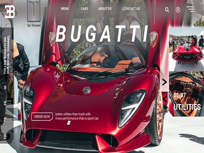 Redesigne bugatti website bugatti web ux ui branding design