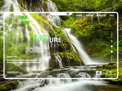 nature landing page design illustration typography minimal web ui ux design branding