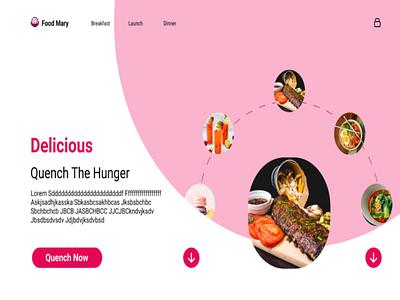 Food website sample minimal ui graphic design 3d web ux design branding