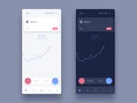 Trading platform mobile concept
