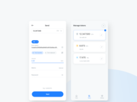 Breew App Send and manage tokens