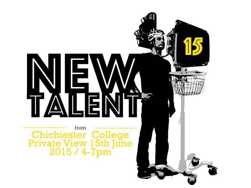 New Talent Chichester Show15 machine illustration flyer poster freaker exhibition show