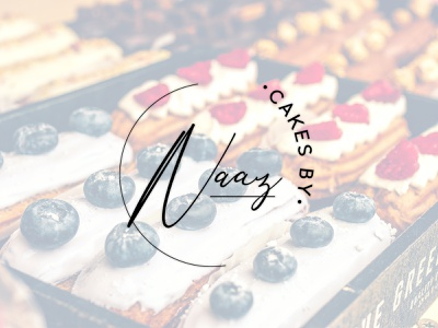 Bakery Combination mark logo for Cakes By Naaz typography ux ui app vector logo illustration icon design branding