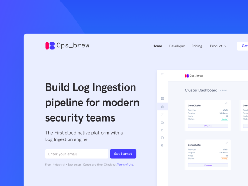 Ops_brew Landing Page