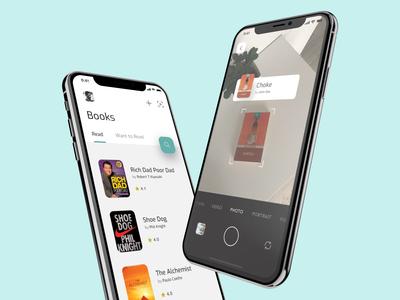 Book scanner mobile app design