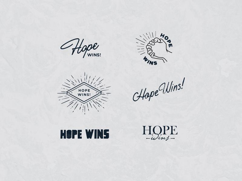 Hope Wins logo mark positive vibes branding concept non-profit visual identity logo design brand identity branding graphic design hope