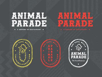Animal Parade llama branding agency hospitality beverage food restaurant secondary mark badge design logo design identity design brand design visual identity logo graphic design brand identity branding