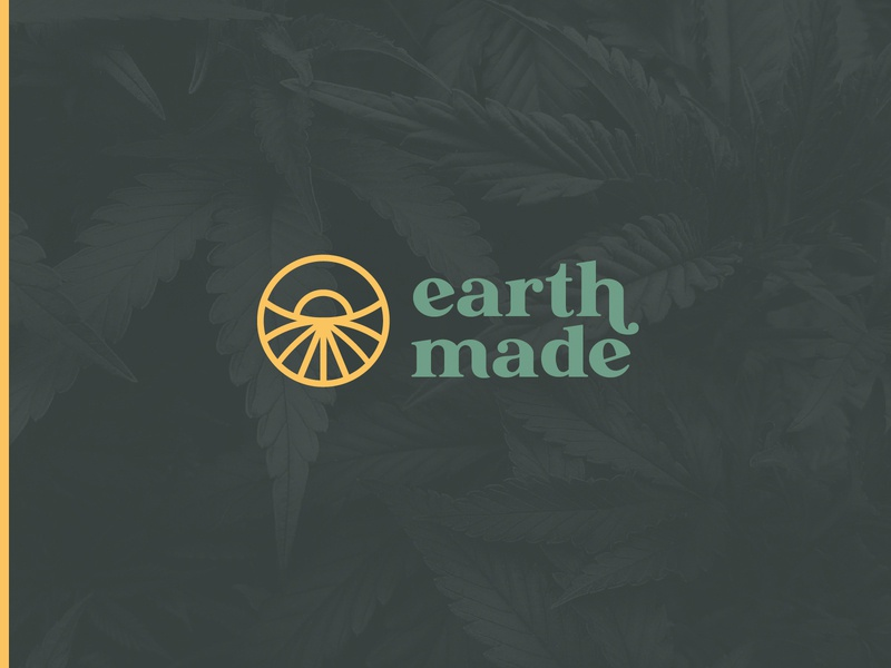 EarthMade Cannabis Logo brand designer graphic design cannabis design logo mark wordmark earth cannabis branding cannabis brand design visual identity brand identity branding logo