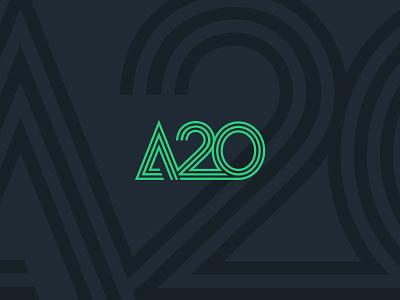 A20 Logo a20 brand design agency visual identity branding brand identity logo design concept brand logo design
