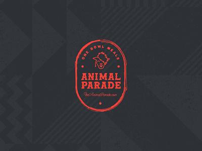Animal Parade Badge branding agency identity design animal llama crest secondary mark food restaurant logo design texture visual identity graphic design brand identity badge design branding logo badge