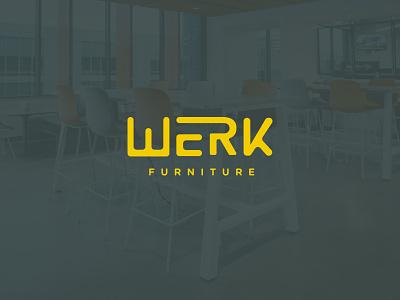 WERK Logo Concepts identity designer office workplace lnk cpg furniture logo concept typography graphic design visual identity brand identity design branding and identity branding logo design logo