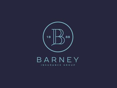 Barney Insurance Group Logo logo graphic design nebraska insurance monogram brand design visual identity brand identity design branding logotype logo mark logo design