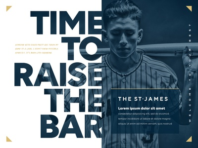 The St. James Creative Direction graphic designer campaign typography texture concept basketball banner poster visual design athletics sports branding graphic design art direction creative direction