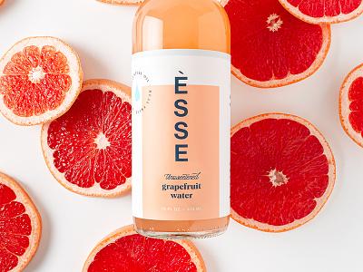 ÈSSE Water Branding & Labels typography logo visual identity essence drink can bottle water food beverage label design packaging design graphic design brand identity design branding