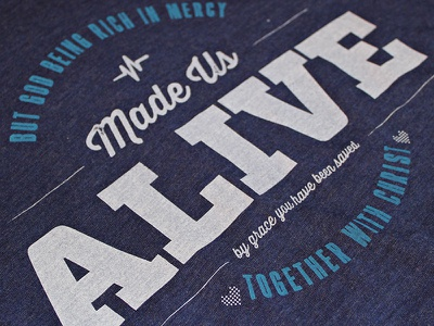 Alive here below tag tees shirts clothing apparel christian truth triblend alive christ god