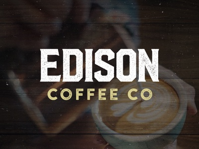 Edison Coffee wordmark coffee logo coffee branding coffeebar coffehouse logo design logo identity branding dallas edison coffee roasting
