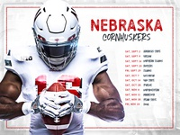 Huskers Schedule Card