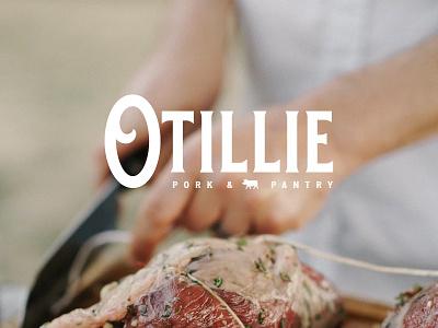 O'tillie Pork & Pantry cafe restaurant pantry butcher meat pork visual identity brand identity branding logo