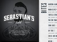 Sebastian's Table Menu