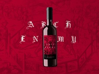 Arch Enemy Wine Label