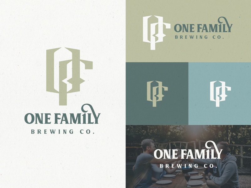 One Family Brewing Identity brand brand style guide design system visual design brand assets family farm lodge resort hospitality restaurant beverage brewery brewing monogram logo design visual identity brand identity brand design branding